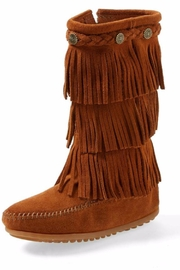 Minnetonka Moccasin Suede Fringe Boot - Product Mini Image