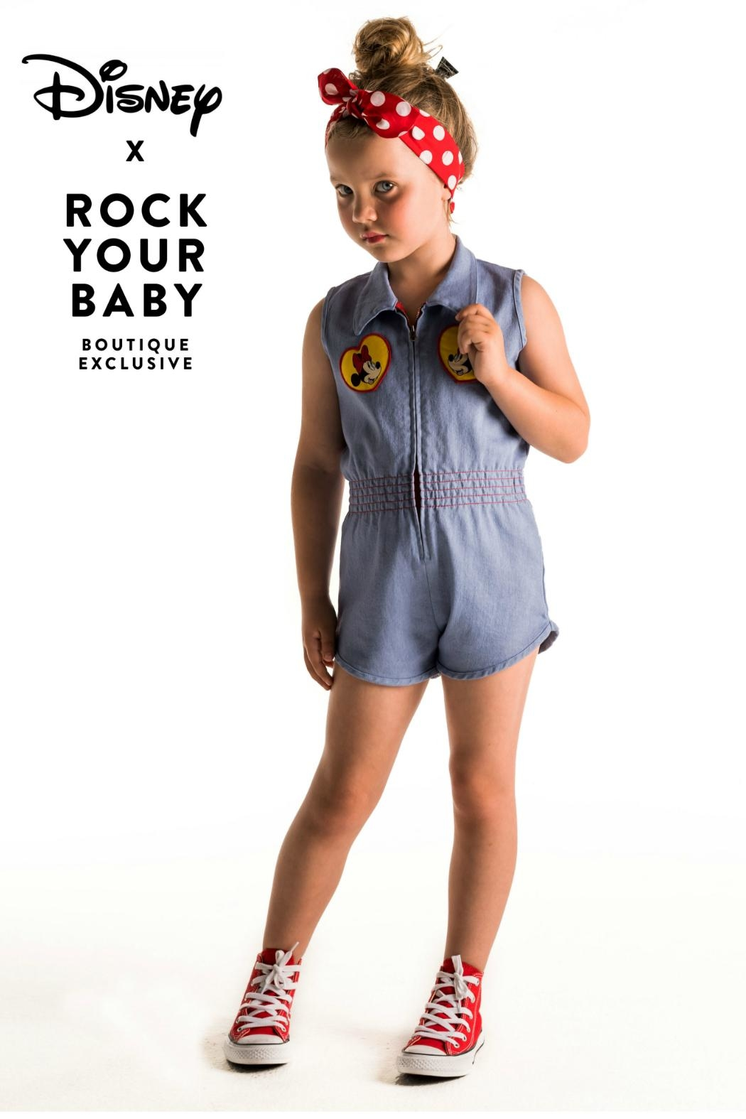 Rock Your Baby Minni Patch Romper - Main Image