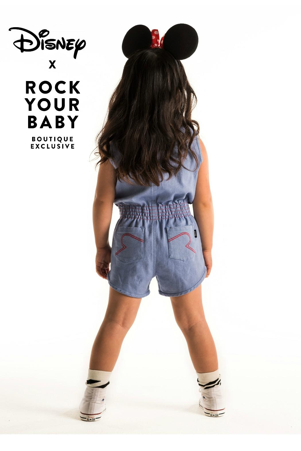 Rock Your Baby Minni Patch Romper - Back Cropped Image
