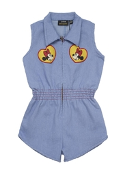 Rock Your Baby Minni Patch Romper - Front full body