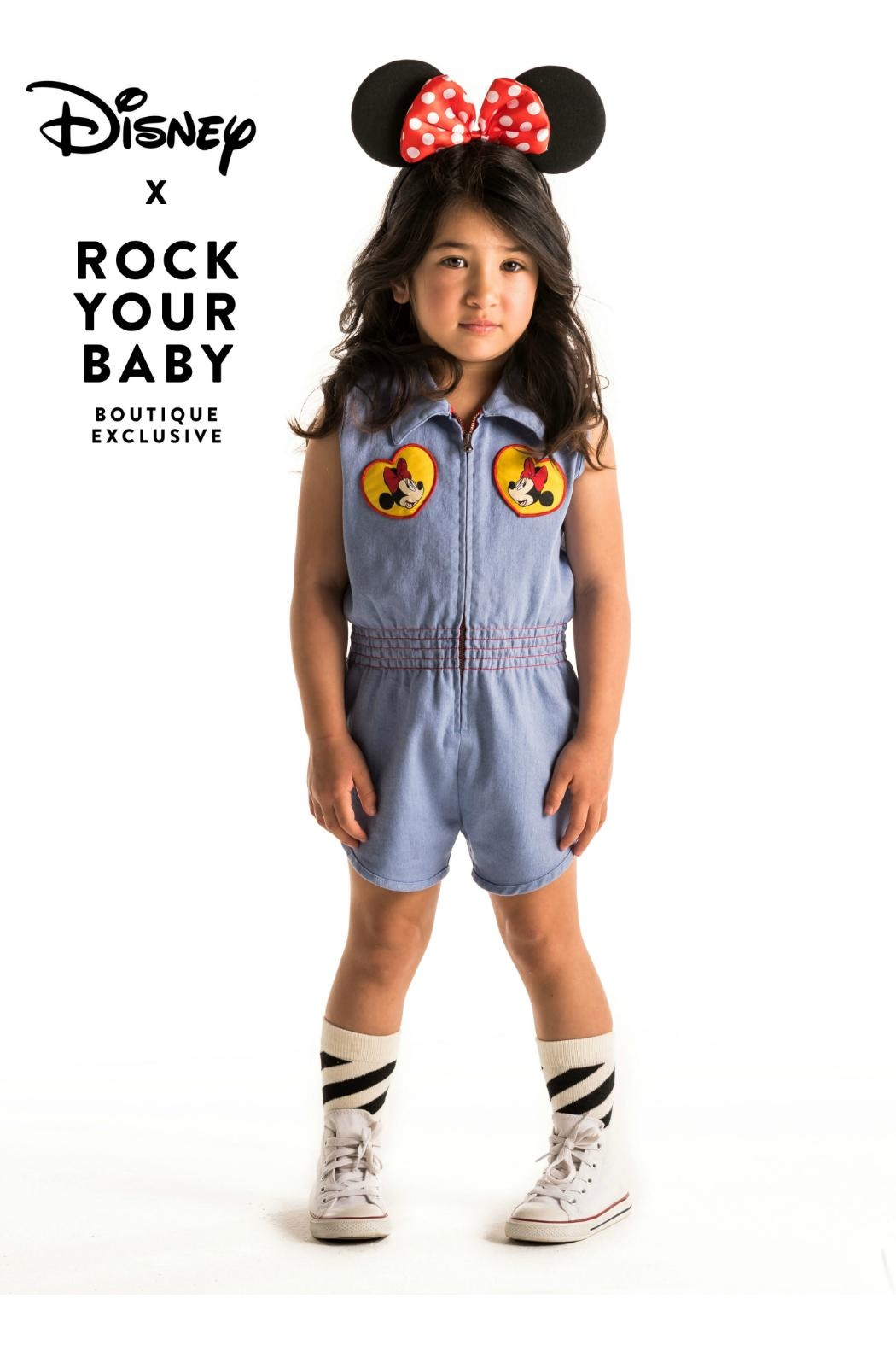 Rock Your Baby Minni Patch Romper - Side Cropped Image