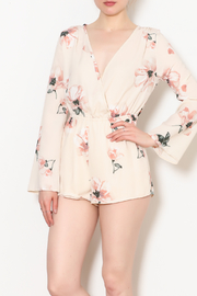 Blooms in The City Minnie Floral Long Sleeve Romper - Product Mini Image