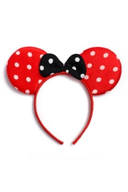 Riah Fashion Minnie-Mouse Polka-Dot Bow-Headband - Product Mini Image