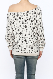 Minnie Rose Off-Shoulder Sweatshirt - Back cropped