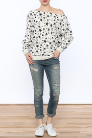 Minnie Rose Off-Shoulder Sweatshirt - Front full body