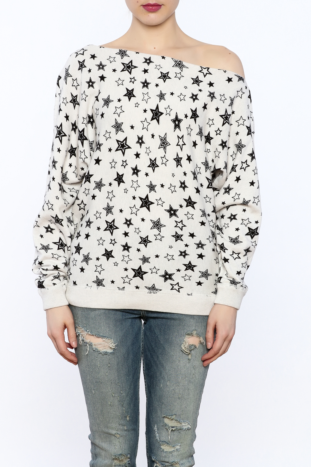 Minnie Rose Off-Shoulder Sweatshirt - Side Cropped Image