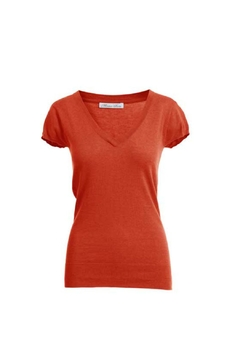 Shoptiques Product: Capsleeve V Neck Tee