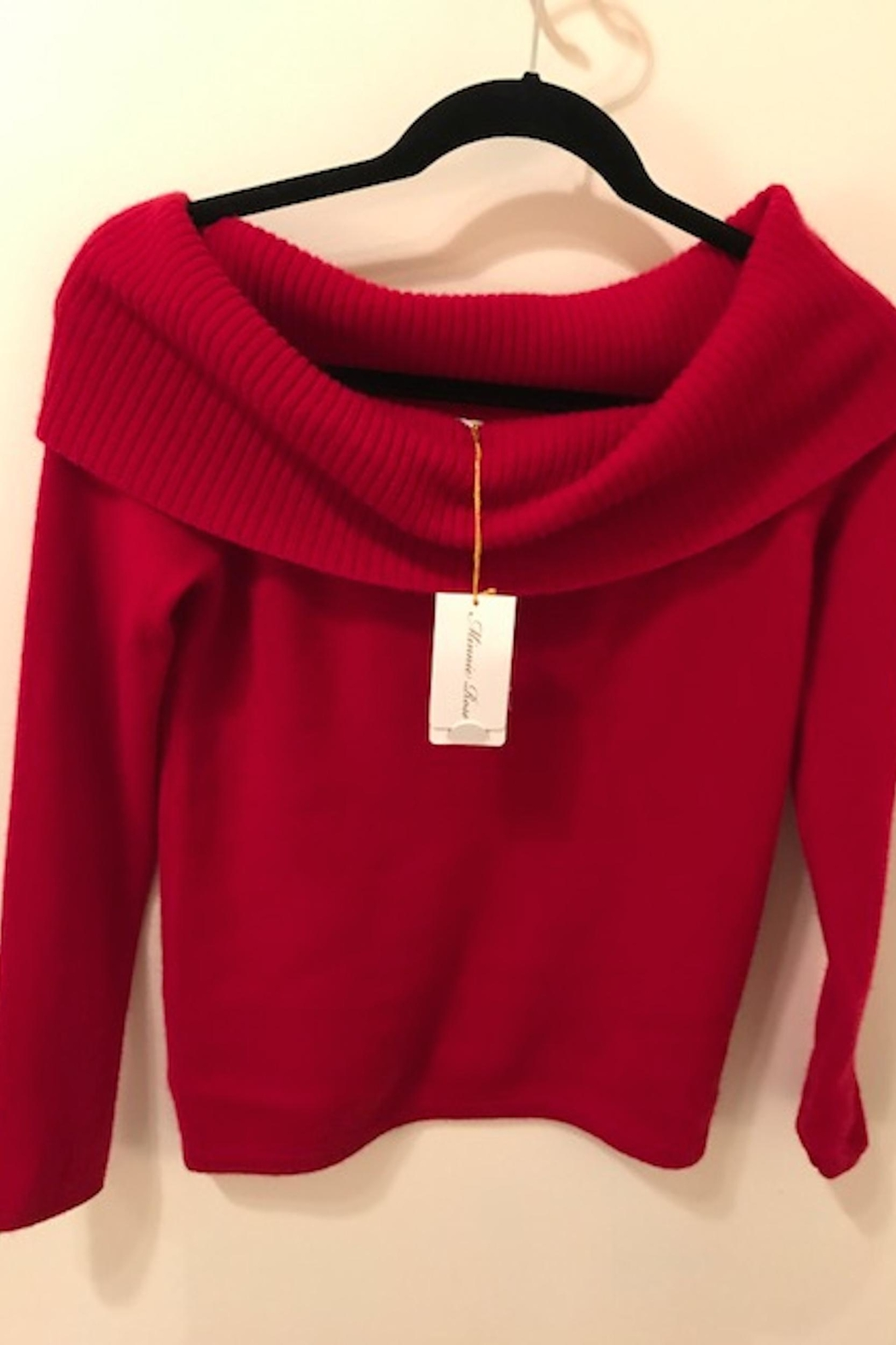 Minnie Rose Cashmere Cowl Sweater - Front Cropped Image