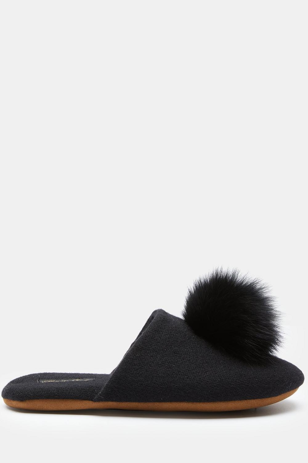 Minnie Rose Cashmere Fox-Fur Slippers - Side Cropped Image