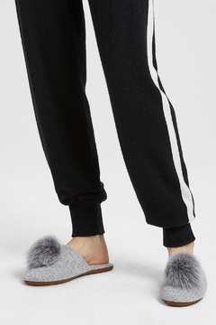 Minnie Rose Cashmere Fox-Fur Slippers - Product List Image
