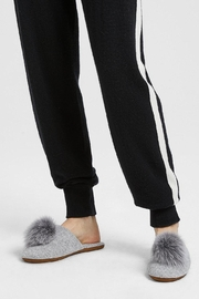 Minnie Rose Cashmere Fox-Fur Slippers - Front cropped