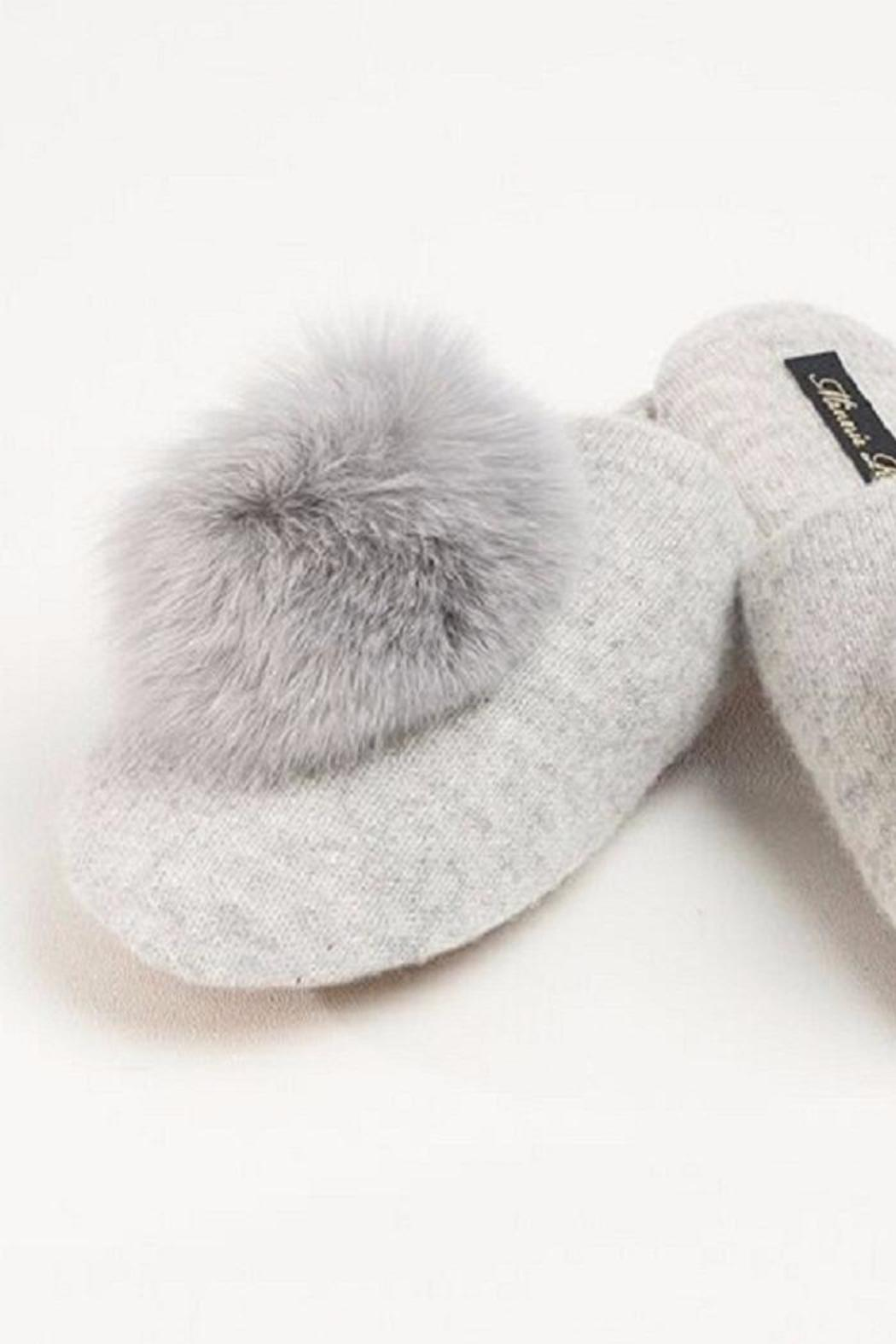 Minnie Rose Cashmere Fox Slippers - Main Image
