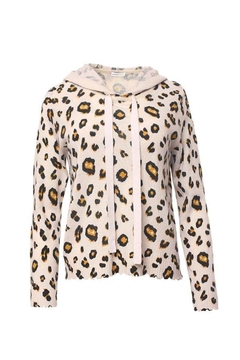 Minnie Rose Cashmere Leopard Hoodie - Product List Image