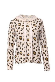 Minnie Rose Cashmere Leopard Hoodie - Product Mini Image