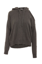 Minnie Rose Cold Shoulder Hoodie - Front cropped
