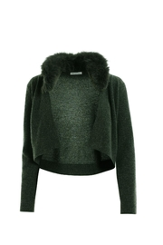 Minnie Rose Cropped Fur Cardigan - Product Mini Image