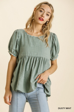 Umgee  Mint Babydoll Top - Product List Image