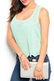 Adore Clothes & More Mint Beaded Top - Product Mini Image