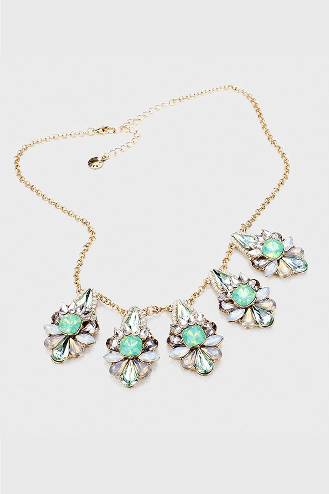 Wild Lilies Jewelry  Mint Crystal Necklace - Main Image