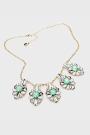 Wild Lilies Jewelry  Mint Crystal Necklace - Front cropped