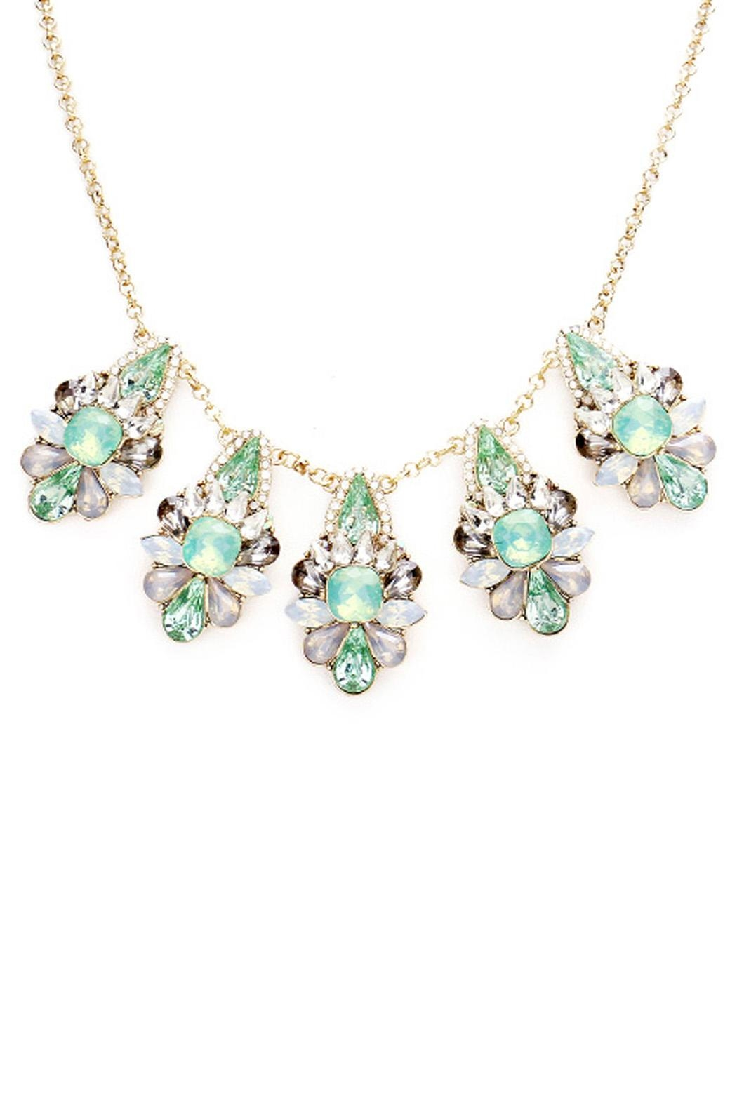 Wild Lilies Jewelry  Mint Crystal Necklace - Front Full Image