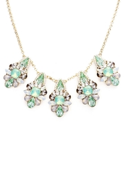 Wild Lilies Jewelry  Mint Crystal Necklace - Front full body