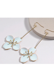 The Birds Nest MINT ENAMEL FLOWER EARRINGS - Product Mini Image