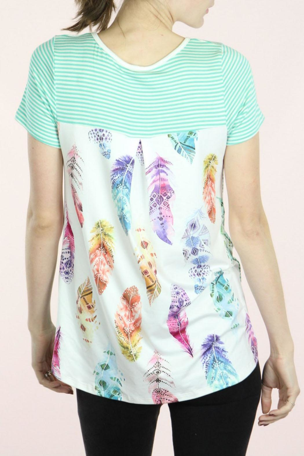 P.S Kate Mint Feather Top - Main Image