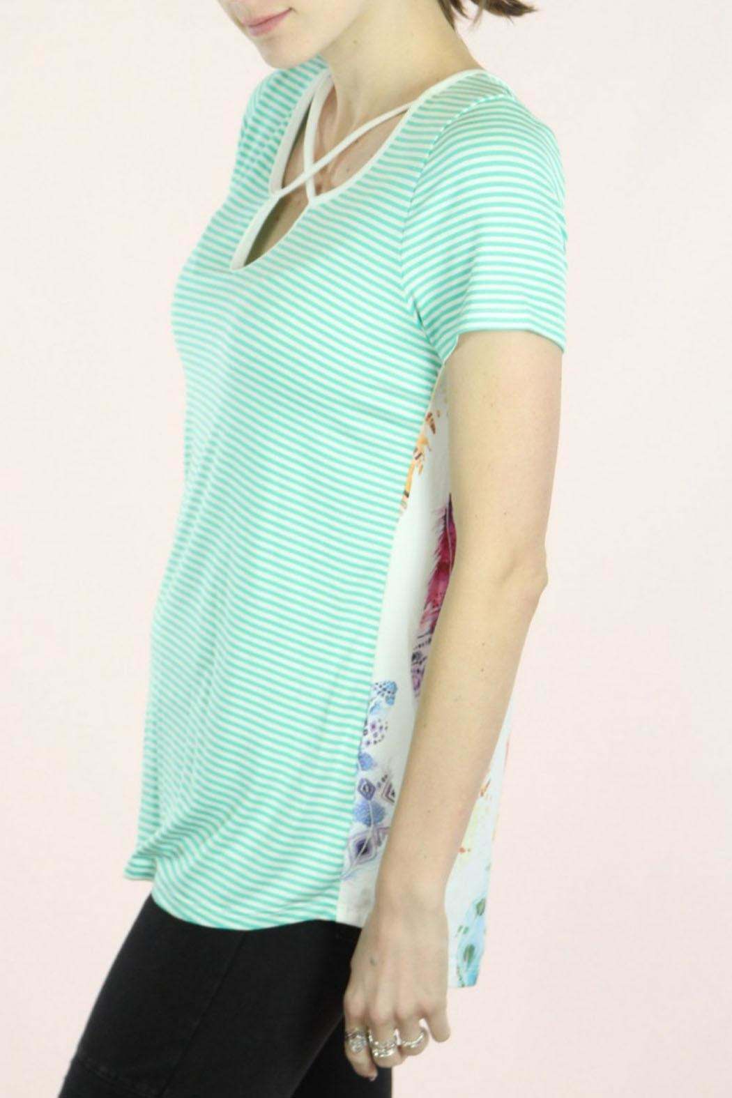 P.S Kate Mint Feather Top - Side Cropped Image
