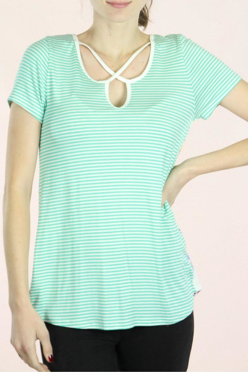 P.S Kate Mint Feather Top - Front Full Image