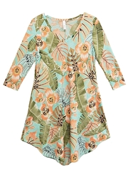 honeyme Mint Floral Dress - Product Mini Image