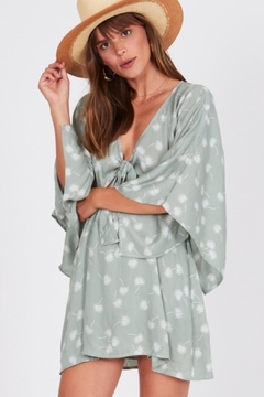 AMUSE SOCIETY Mint Floral Dress - Product List Image