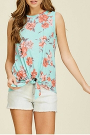 White Birch Mint Floral Top - Product Mini Image