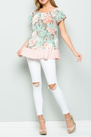 ee:some Mint Floral Top - Product Mini Image