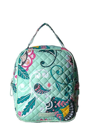 Vera Bradley Mint Flowers Lunch Bunch - Front cropped
