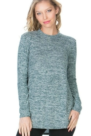 Azules Mint-Fuzzy High-Neck Top - Product Mini Image