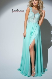 Tony Bowls Mint Green Gown - Front cropped