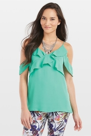 CoCo and Carmen  Mint Green Ruffled Top - Product Mini Image
