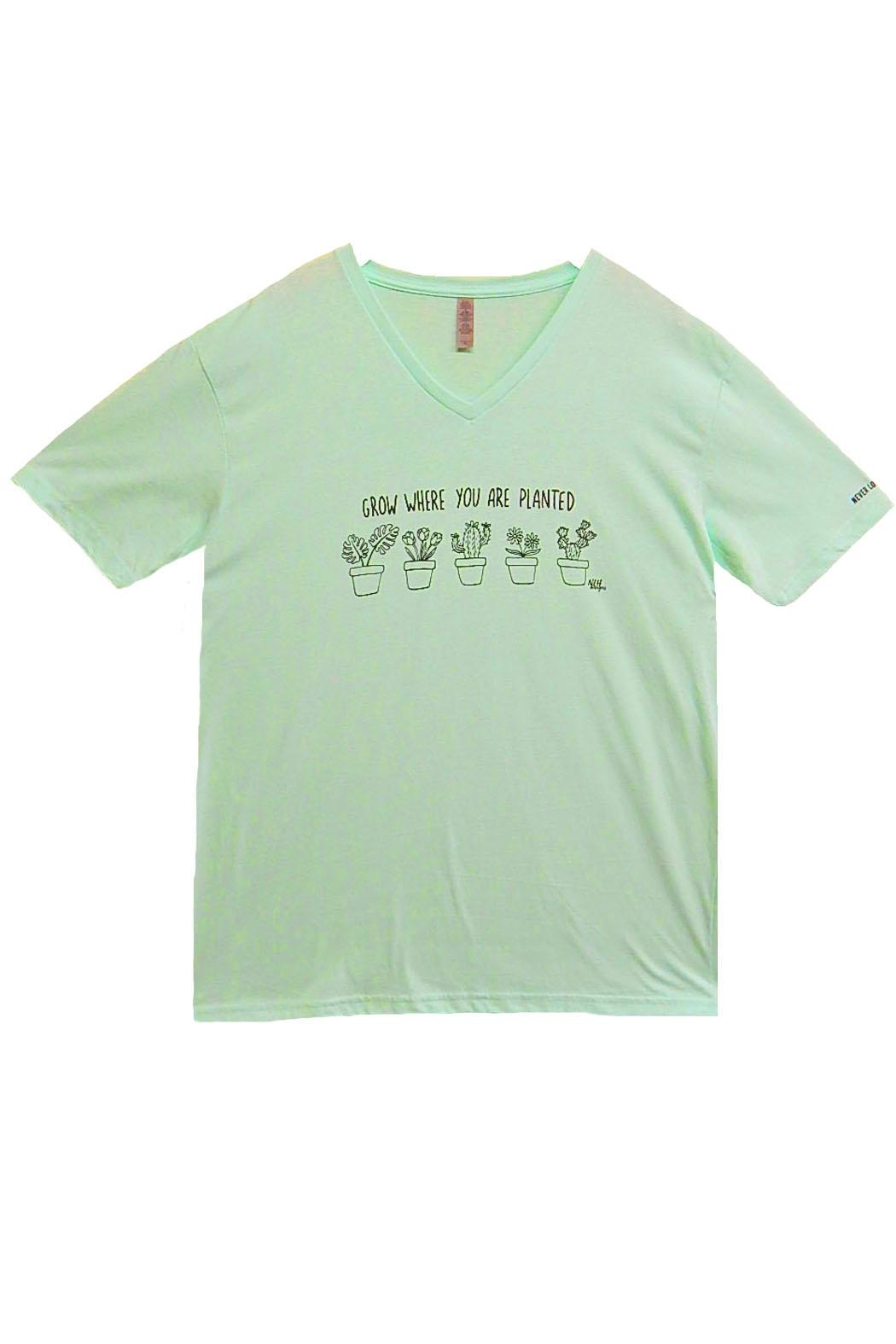 Never Lose Hope Designs Mint Grow Shirt - Main Image