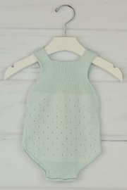Granlei 1980 Mint Knitted Onesie - Front full body