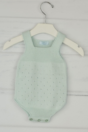 Granlei 1980 Mint Knitted Onesie - Front cropped