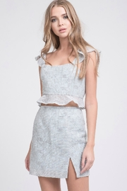 J.O.A. Mint Lace Top - Front cropped