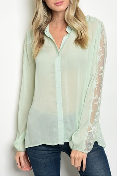 Tassels N Lace Mint Lace Top - Product List Image