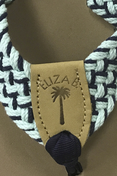 Eliza B Mint/Navy Macrame Almond Sole - Alternate List Image