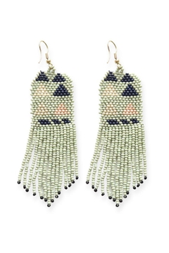 Shoptiques Product: Mint Navy Pink Seed Bead Earring