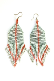 Ink + Alloy Mint Peach Diamond Seed Bead Earring - Product Mini Image