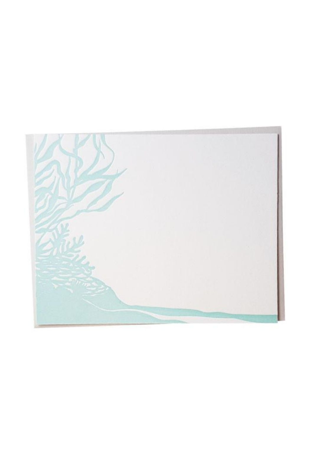 Bradley and Lily Mint Reef Letterpress Card Set - Main Image