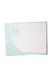 Bradley and Lily Mint Reef Letterpress Card Set - Front cropped