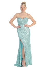 Mayqueen Mint Sequin Long Dress - Product Mini Image