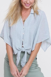 Mittoshop Mint Striped Front-Tie-Top - Product Mini Image
